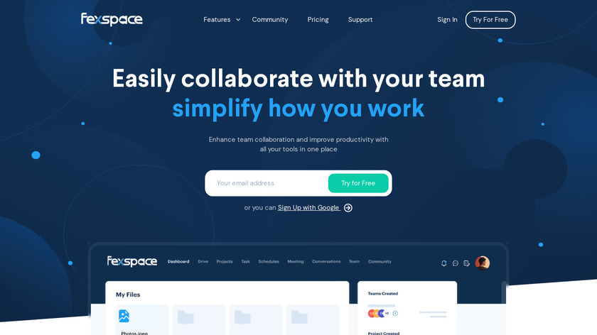 Fexspace Landing Page