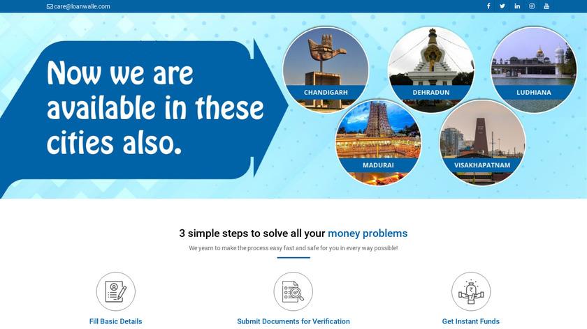 Loanwalle Landing Page