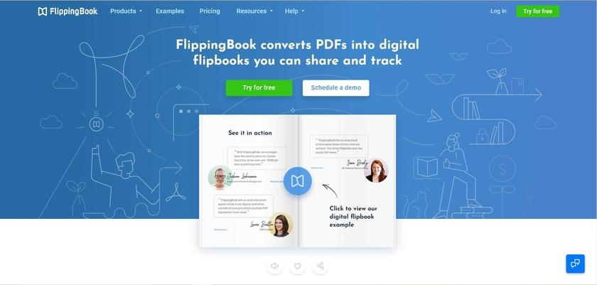 FlippingBook Landing Page