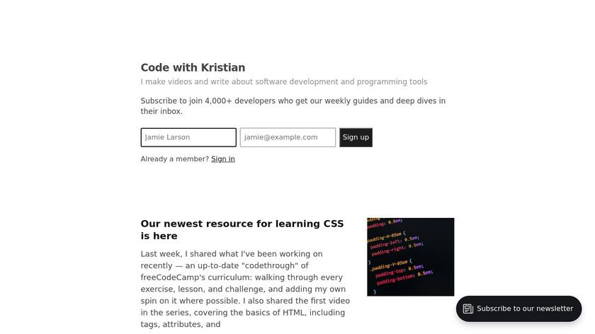 Bytesized Landing Page