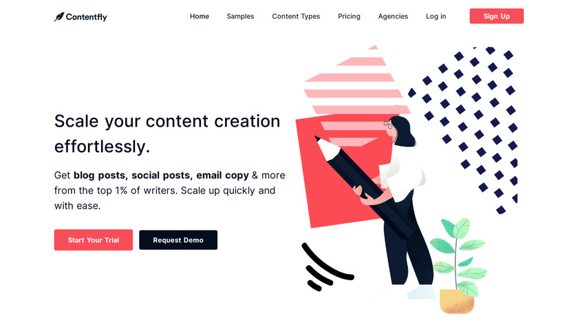 ContentFly Landing Page