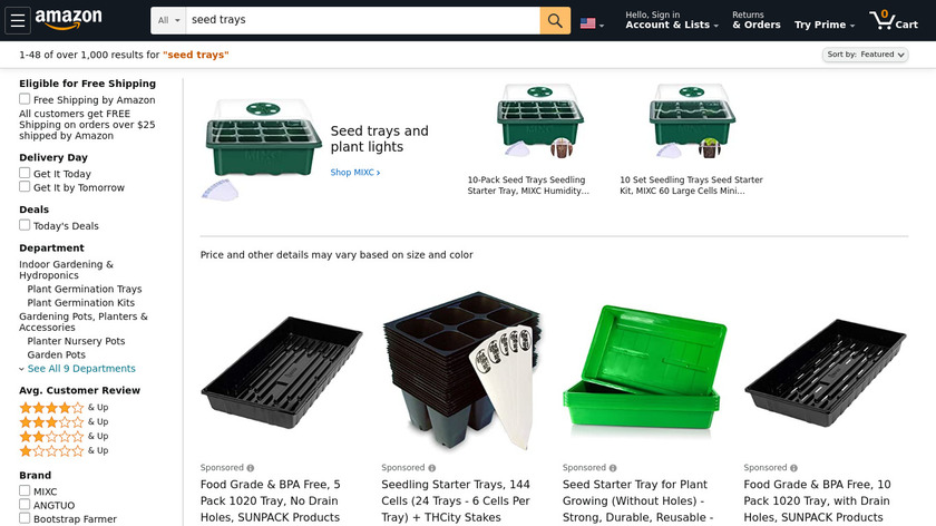 My Seed Trays Landing Page