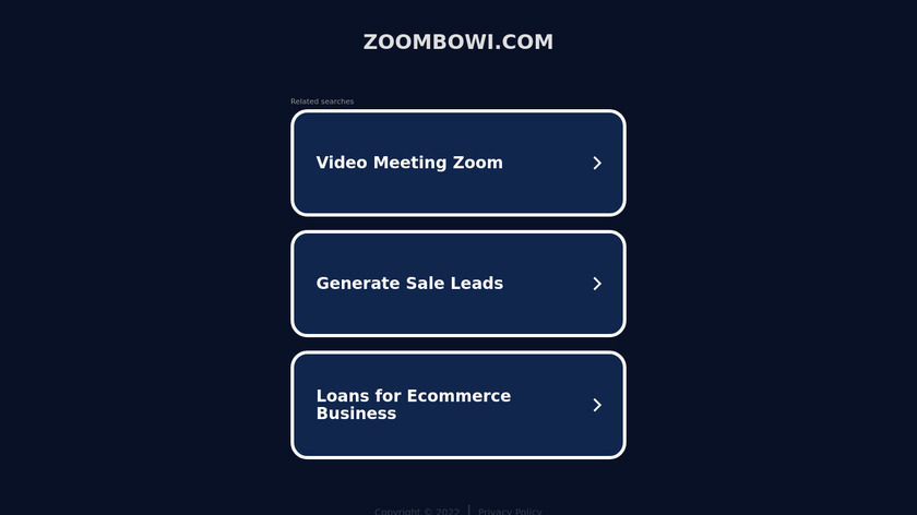 Zoombowi Landing Page