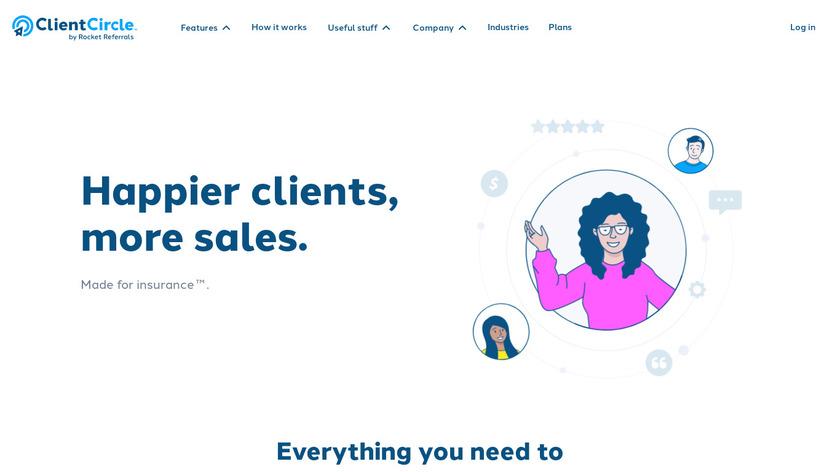 Rocket Referrals Landing Page