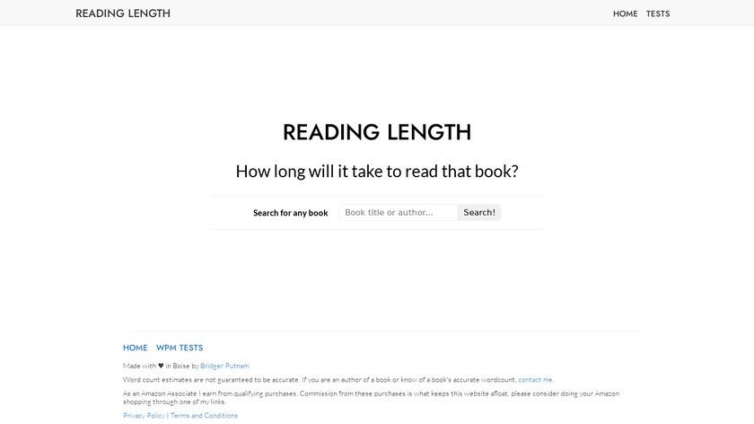 Reading Length Landing Page