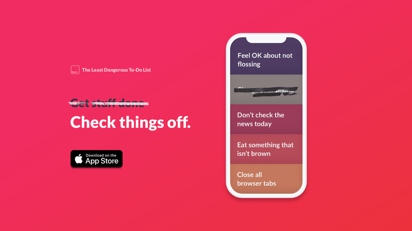 The Least Dangerous To-Do List Landing Page