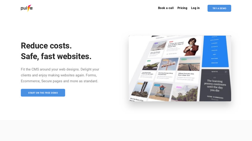 Pulse CMS Landing Page