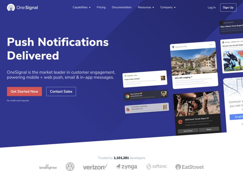 OneSignal Landing Page