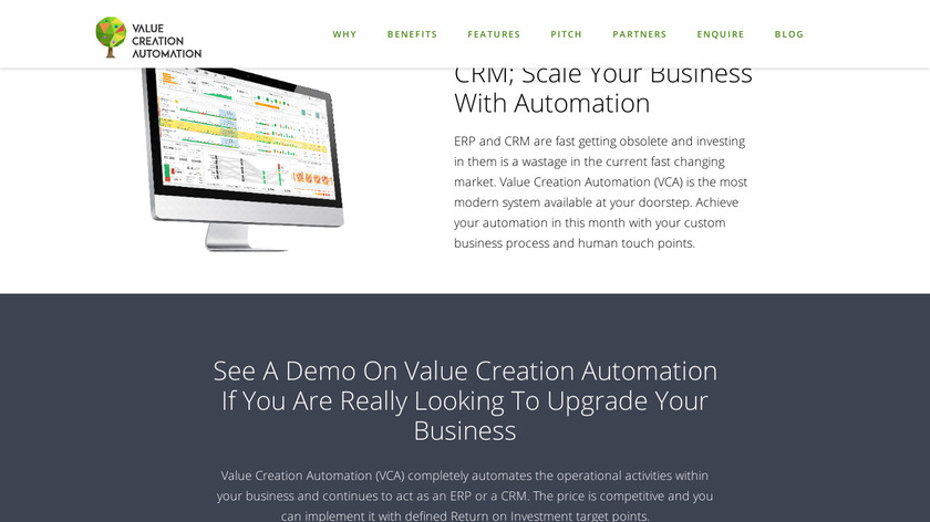 VCA Business Process Management Software Landing Page