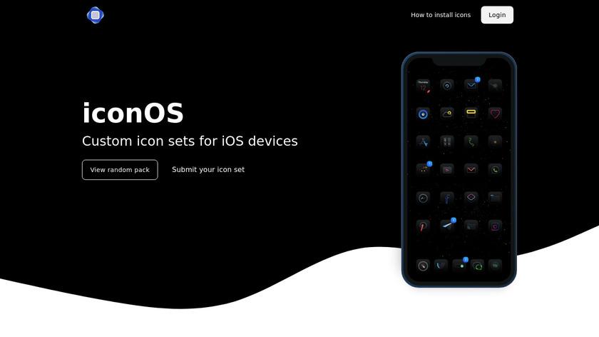 iconOS Landing Page