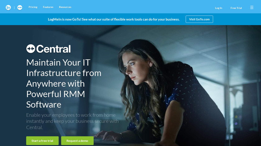 LogMeIn Central Landing Page