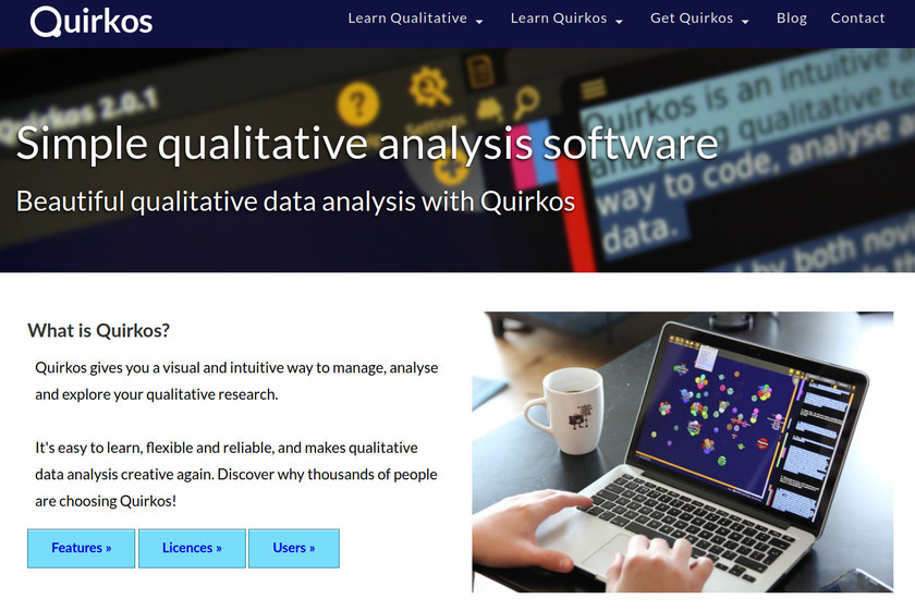 Quirkos Landing Page