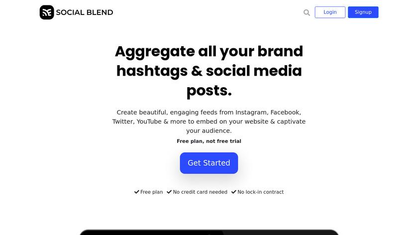 Social Blend Landing Page