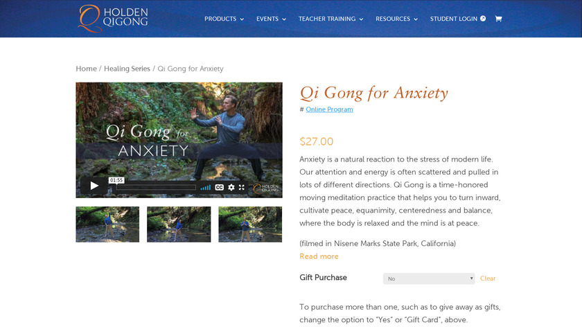 Qi Gong for Anxiety Landing Page