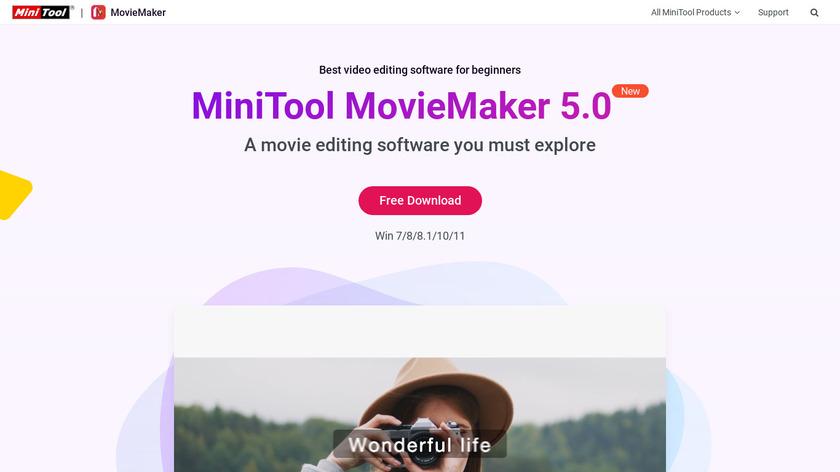 MiniTool MovieMaker Landing Page