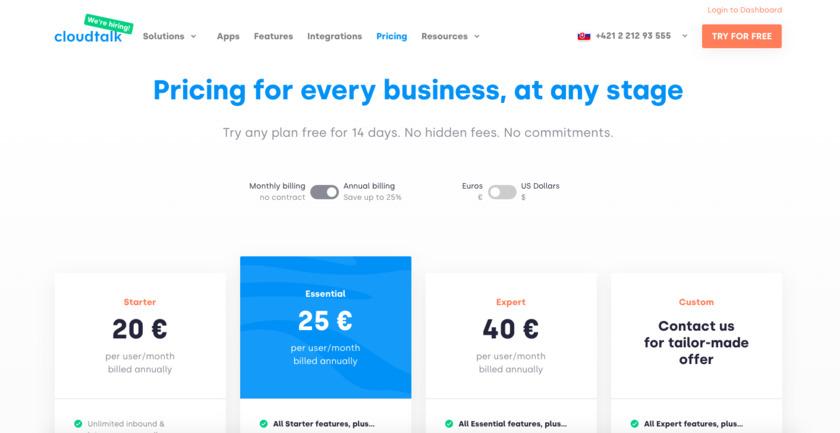 CloudTalk.io Pricing