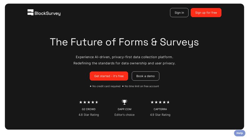 BlockSurvey Landing Page