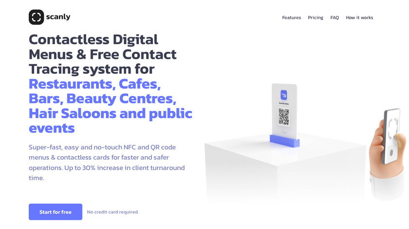 Scanly Landing Page