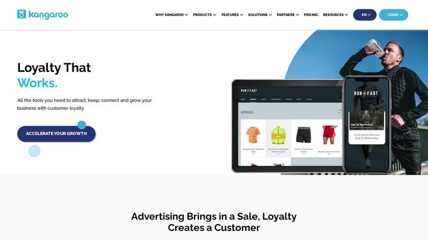 Kangaroo Rewards Landing Page