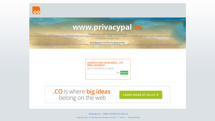 Privacy Pal Landing Page