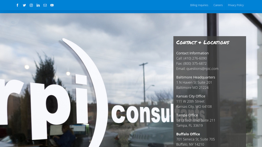RPI Consultants Landing Page