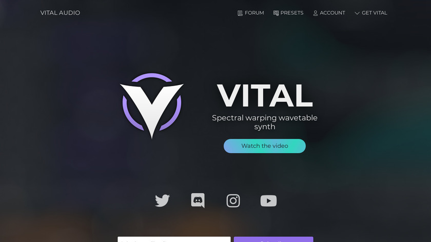 Vital Landing Page