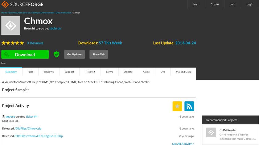 Chmox Landing Page