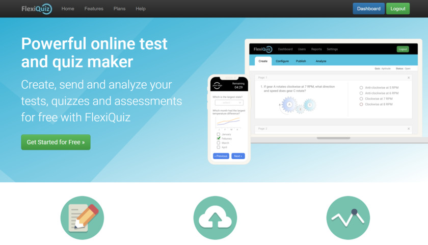 FlexiQuiz Landing Page