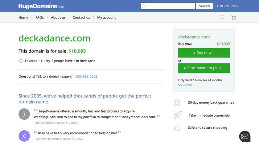 Deckadance Landing Page