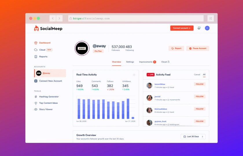 SocialMeep Landing Page
