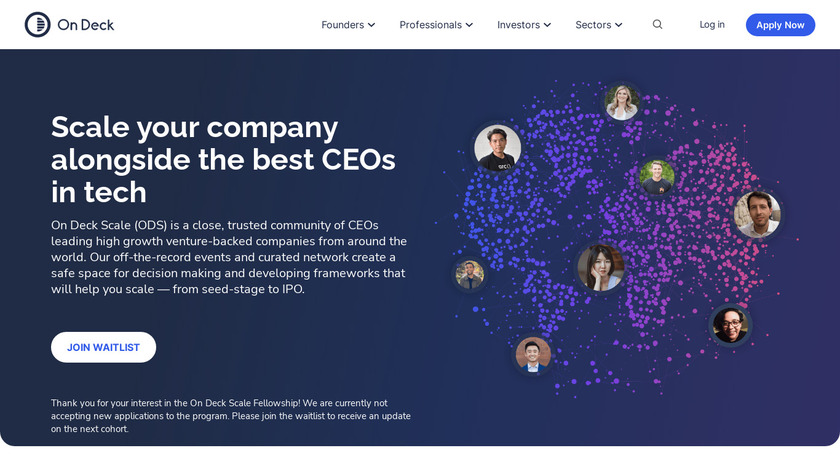 On Deck Scale Landing Page