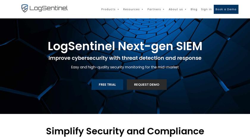 LogSentinel Landing Page