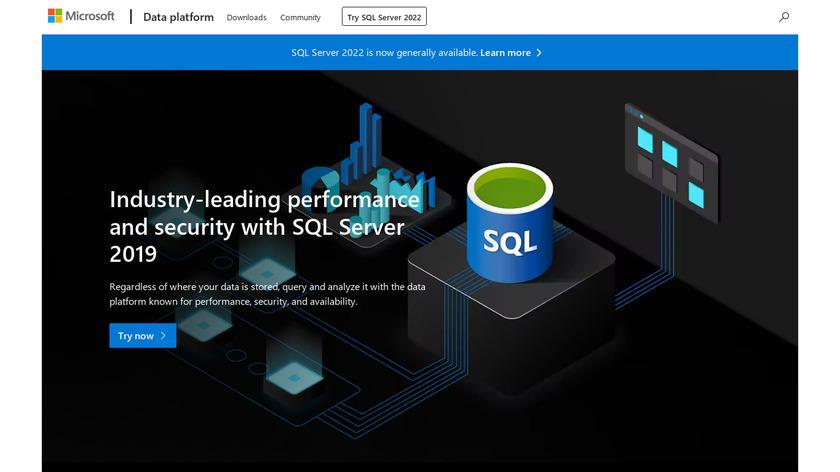 Microsoft SQL Landing Page