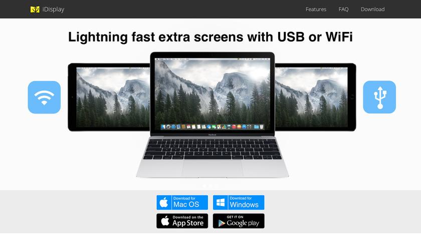 iDisplay Landing Page