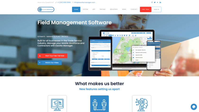 Eworks Manager Landing Page
