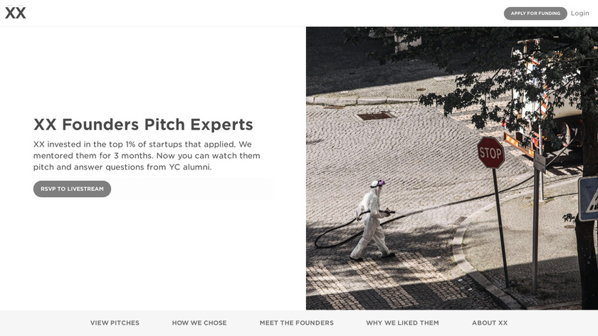COVID-19 Demo Day by XX Landing Page