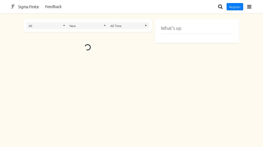 Sigma Finite Landing Page