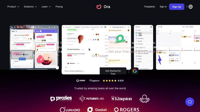 Ora Landing Page