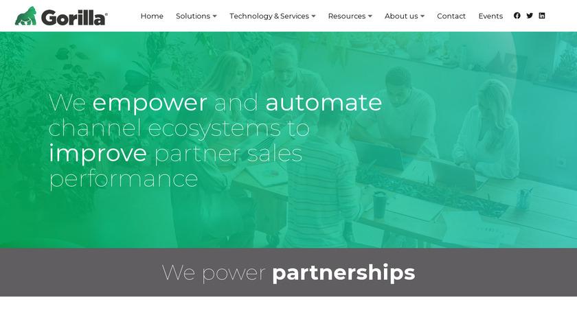 Gorilla Corporation Landing Page