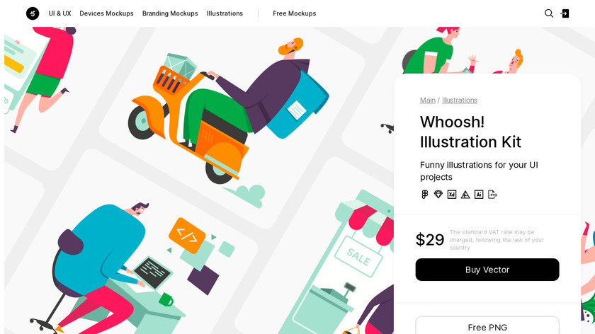 Whoosh by ls.graphics Landing Page
