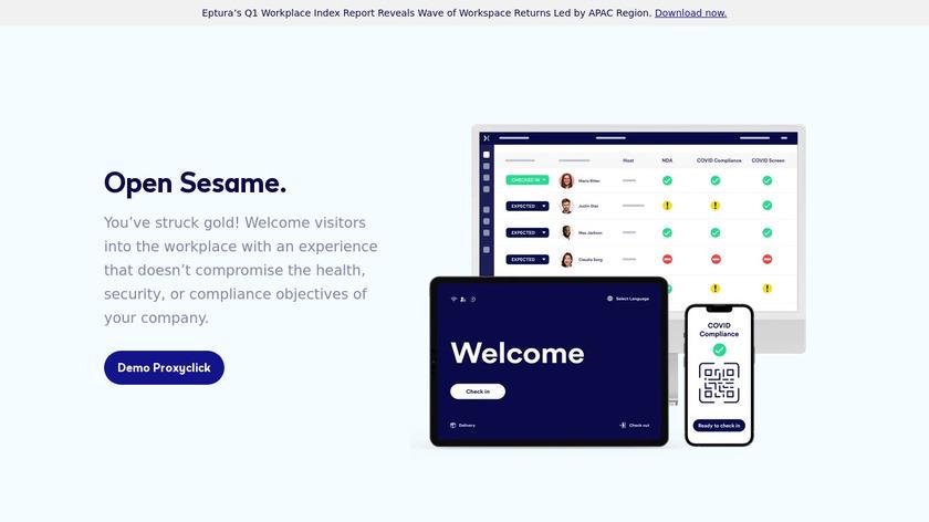 Proxyclick Landing Page