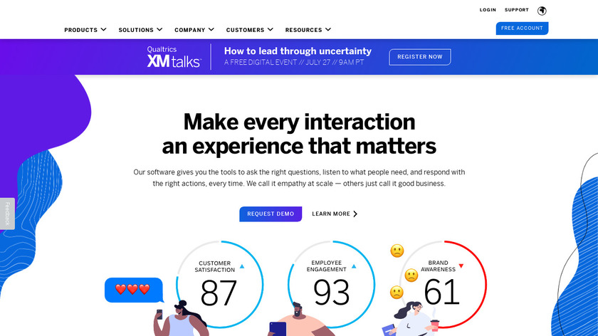 Qualtrics Research Core Landing Page