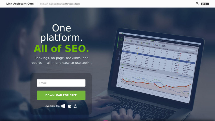 SEO PowerSuite Landing Page