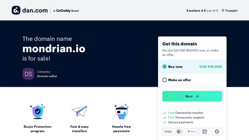 Mondrian Landing Page