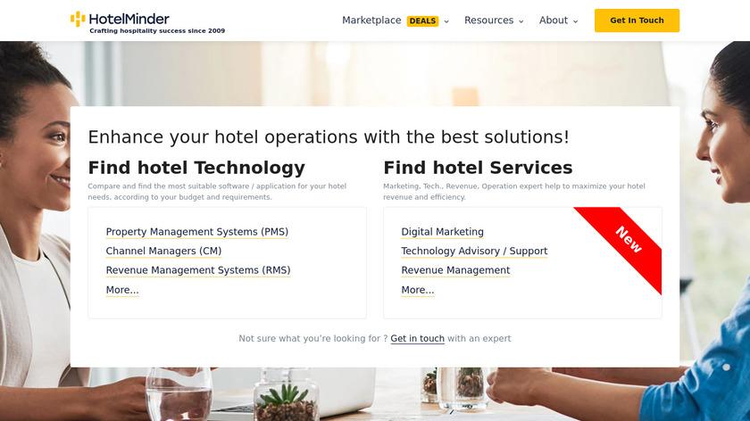 HotelMinder Landing Page