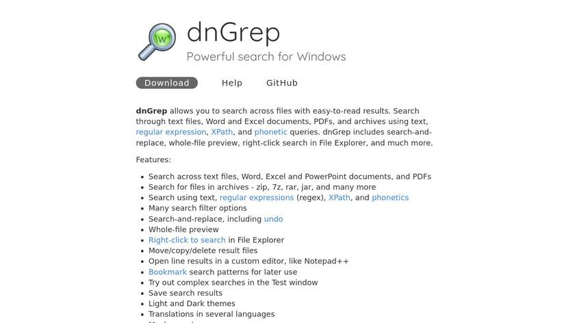 dnGREP Landing Page