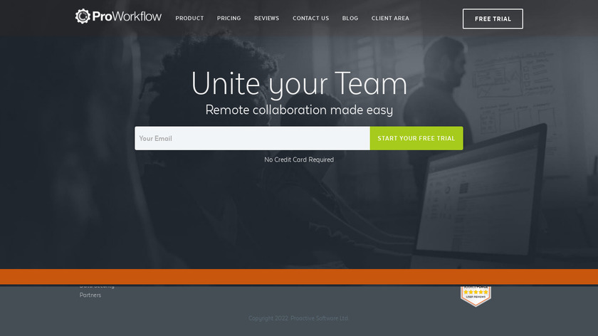 ProWorkflow Landing Page