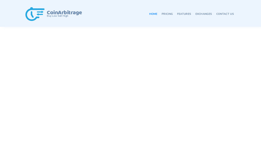 CoinArbitrage Landing Page