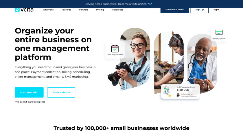 vCita Landing Page