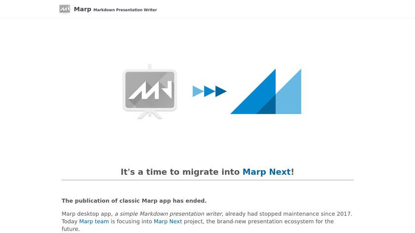 Marp Landing Page